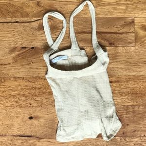 Project Social T cream colored tank top